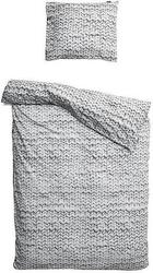 Pościel twirre 135 x 200 cm szara