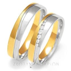 Obrączki ślubne złoty skorpion – wzór au-oe222