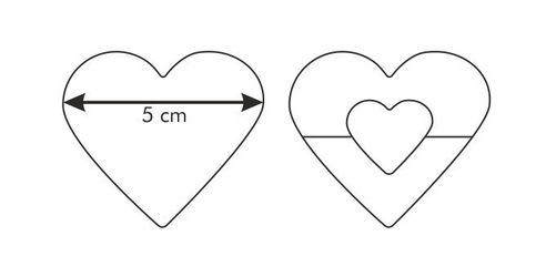 Tescoma wykrawacz do kruchych ciasteczek delicia serce