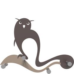 Wieszak ścienny Owl CalleaDesign czekoladowy 13-007-69