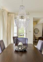 Lampa wisząca z akrylowych kryształów perseo candellux 31-57488
