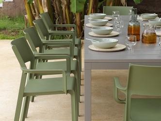 Zestaw mebli do ogrodu - rozkładany stół rio 210-280 cm + 10 krzeseł trill armchair
