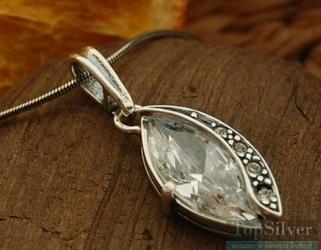 Orco - srebrny wisiorek z kryształem