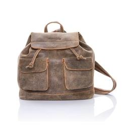 Skórzany plecak damski paolo peruzzi 117-pp j.brąz - jasny brąz