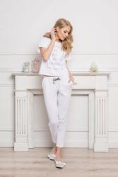 Aruelle kingdom long dots  white piżama damska