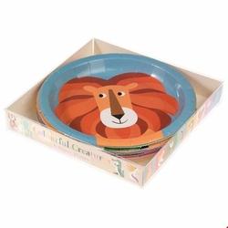 Talerzyki papierowe 8 szt., Kolorowe Zwierzaki, Rex London - kolorowe zwierzaki