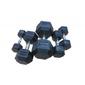 Hantla ogumowana hex ac-1710 25 kg - bauer fitness - 25 kg