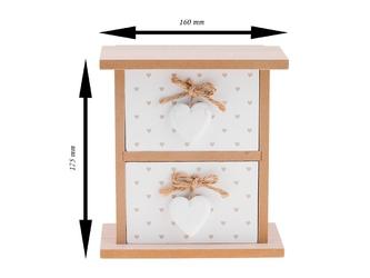 Prowansalska szkatułka retro 2 szuflady dedykacja