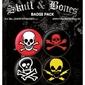 Skull and Bones - zestaw 4 przypinek