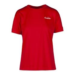 Koszulka damska diadora l.ss t-shirt logo - czerwony