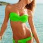 Bikini strój kąpielowy zielony
