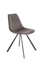 Dutchbone krzesło franky szare 1100369