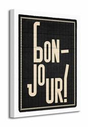 Bonjour - Obraz na płótnie