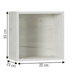 Półka wisząca teser dąb craft biały