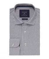 Elegancka koszula profuomo originale w granatowe prążki 41
