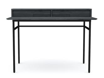 Drewniane szare biurko capella 120 cm