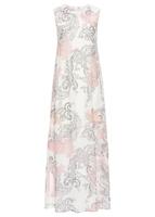 Letnia sukienka maxi szyfonowa bonprix biel wełny paisley