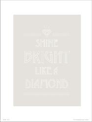 Typographic shine bright - plakat premium