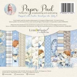 Papier ozdobny 15x15 cm boys little world - zestaw - boy