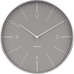 Zegar ścienny Normann 27,5 cm szary