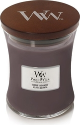 Świeca core woodwick suede  sandalwood średnia