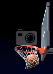 Fototapeta koszykówka strzał