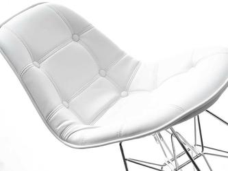 Krzesło białe tunis ll ekoskóra