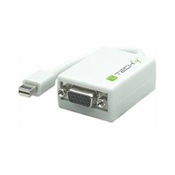 Techly Adapter Mini DisplayPort męski na VGA żeński, biały, 15cm
