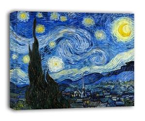 Gwieździsta noc - vincent van gogh - obraz na płótnie wymiar do wyboru: 50x40 cm