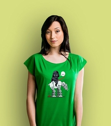Shit happens atee t-shirt damski zielony xxl