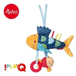 Sigikid przytulanka aktywizująca rybka z gryzakiem, grzechotką, piszczałką, wibracją i szeleszczącą folią 6m+ playq