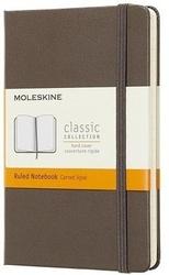 Notes moleskine kieszonkowy w linie earth brown