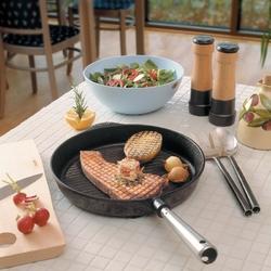 Patelnia do grillowania ze stalową rączką chefs skeppshult 28cm 0028