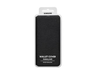 Samsung etui wallet cover do a40 czarne