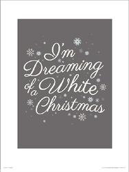 Christmas White - plakat premium