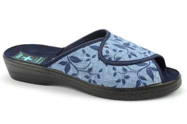 Pantofle adanex 21643 niebieski