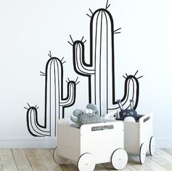 Naklejka na ścianę - cacti room , wymiary naklejki - szer. 80cm x wys. 160cm