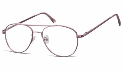 Okulary oprawki dziecięce zerówki pilotki mk3-47e fioletowe