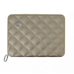 Portfel aluminiowy ogon designs quilted passport wallet rose gold