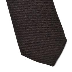 Wełniany brązowy krawat van thorn
