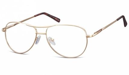 Okulary oprawki dziecięce zerówki pilotki mk1-49d złote