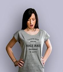 Z każdym dniem t-shirt damski jasny melanż xxl