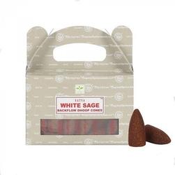 Biała szałwia - kadzidełka stożkowe satya backflow op.24 szt