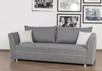Wygodna rozkładana sofa z bokami oskar z funkcją spania 192x146cm