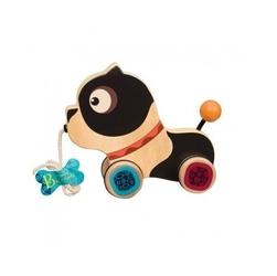 B.toys uroczy drewniany piesek do ciągnięcia na sznurku