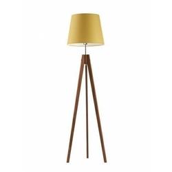 Lampa podłogowa aruba abażur musztardowy stelaż mahoniowy - żółty