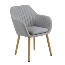 Tapicerowane krzesło z przeszyciami bristol