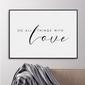 Plakat w ramie - do all things with love , wymiary - 70cm x 100cm, ramka - biała
