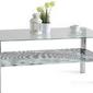 Szklany stolik zebry alfie chrom