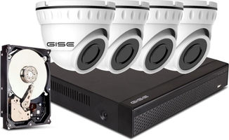 Zestaw 4x kamera 8mpx, rejestrator 4ch + 1tb - szybka dostawa lub możliwość odbioru w 39 miastach